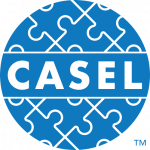 The CASEL logo: a circle of blue interlocking jigsaw pieces with CASEL written across the middle